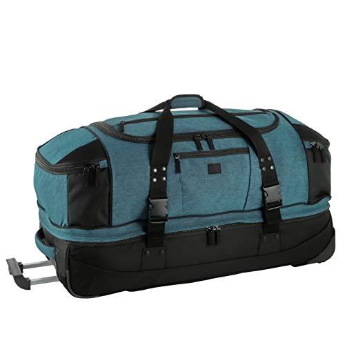 Rada Reisetasche mit Rollen RT/22, groß und wasserabweisend, Sporttasche mit 120 Liter Volumen, Trolley-Bag (Maße: 90x40x40 cm) (Petrol)