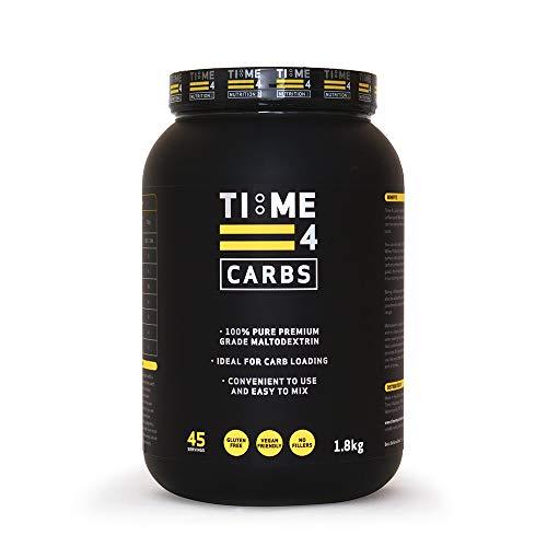 41E8UoK8BHL. SS500  - Time 4 Carbs 1.8kg Carb Powder – 100% Pure Unflavoured Premium Grade Maltodextrin Powder – High Calorie Weight Gain…