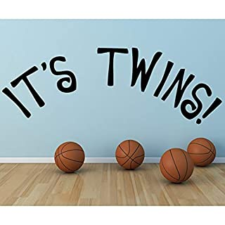 ¡Son gemelos! Etiqueta de la pared Nuevo Bebé Nursery y Bebé Pegatinas de Pared Decoración para el hogar Calcomanías de arte Diseño artístico Wallpaper Mural 31X88c
