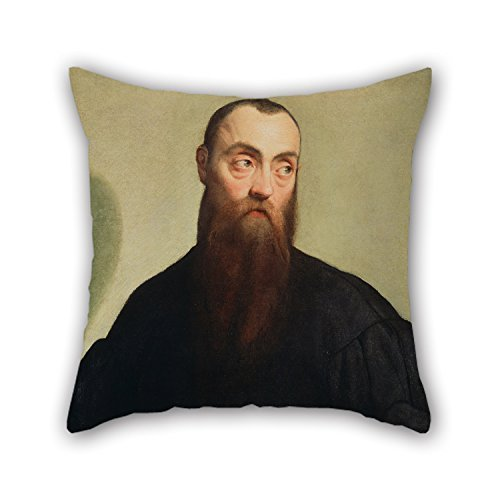 Loveloveu Ölgemälde Jacopo Bassano (Italienisch, über 1510Oder 1515–1592)–Portrait of A Bearded Man Kissen 45,7x 45,7cm/45von 45cm für Divan-Mann Dance Raum Verwandte Home Theate