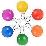 Haustier Sicherheitslicht, 6 Packungen PChero Ansteck-Spotlit, wasserfeste LED-Sicherheitslampen-Amulette für Hundehalsbänder, Karabinerhaken aus Edelstahl - [Blau, Grün, Orange, Pink, Rot und Gelb]