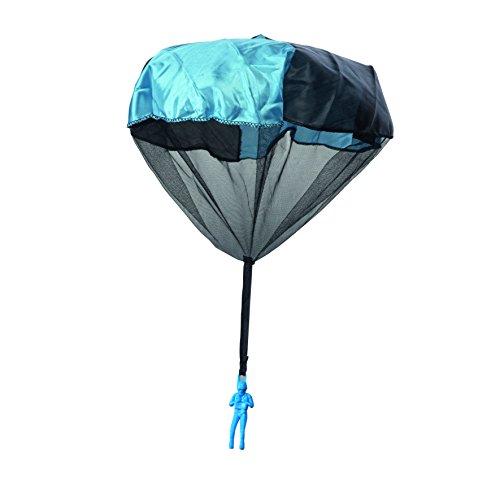 wohnen-freizeit 1x Fallschirmspringer mit Wurfstab Fallschirm Spiel Springer Draußen Kinder Kinderspiel Werfen Kindergeburtstag