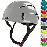ALPIDEX Universal Kletterhelm für Herren und Damen Klettersteighelm in unterschiedlichen Farben, Farbe:Pebble Grey