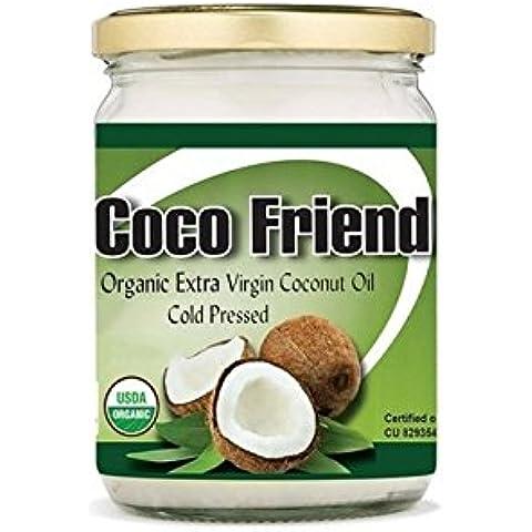 Coco Friend Aceite de coco extra virgen extra de la Virgen Frío Pressed USDA orgánico no GMO certificado 500ml