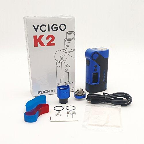 E Cig FUCHAI Vcigo K2 230W Vaping Box Mod Set mit RDA Zerstäuber,SIGELE Vapour E Zigarette Kit ohne E-Liquid und Nikotinfrei (Blau)+Hanjoy Kostenlose Wireless Fast Charger für SAMSUNG Galaxy S8/S8+/S7/S7 Edge/S6 dge+/note5