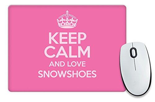 Pink Keep Calm und Love Schneeschuhen Mauspad Farbe 1678
