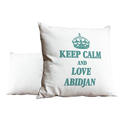 Türkis Keep Calm und Love Abidjan weiß Scatter Kissen 2067