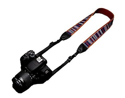 Woodmin Kamera Tragegurt Schulter Strap Kameragurt für Canon Nikon Pentax Sony usw. Modell LYN-241Z(1233)