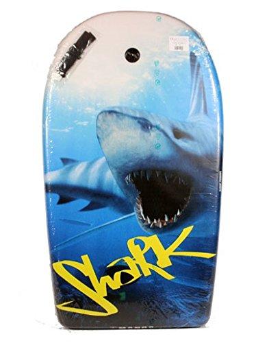 """Bodyboard Motiv """"white shark"""", Größe: ca. 82 x 47 x 5 cm, Polyester, Klettbandschlaufe, Halteleine, Made in Italy! Weißer Hai …"""