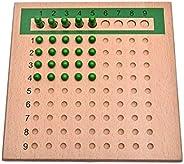 Juguetes de enseñanza de matemáticas Montessori para niños, Tablero Divisor multiplicado, Juguete de matemátic