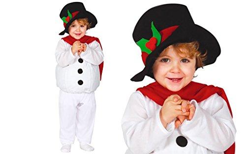 Imagen de disfraz de muñeco de nieve baby para bebé
