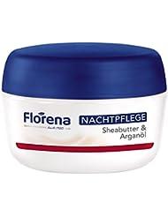 Florena Nachtpflege mit Sheabutter & Arganöl, vegan, 1er Pack, (1 x 50 ml)