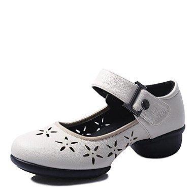 Wuyulunbi @ Donnes Danse Sneakers Split Sole Sneaker Façade Extérieure Évider Bas Talon Rouge Noir Blanc 1 Us5 / Eu35 / Uk3 / Cn34