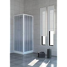 Cabina de ducha con puertas plegables–PVC–2lados–75x 75cm.