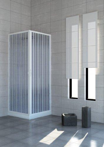 Cabina de ducha con puertas plegables–PVC–2lados–70x 100cm