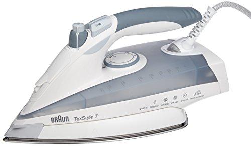 Braun TS785STP Plancha a vapor, función espray, sistema antical automátic, 2400 W, 0.4 L, acero inoxidable y plástico, Gris