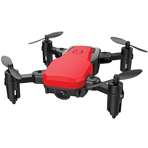 SG800 Mini Drohne mit 2MP Kamera, Bescita Faltbare 2.4G RC Quadcopter Pocket Helicopter Höhe Hold Drone (Rot)