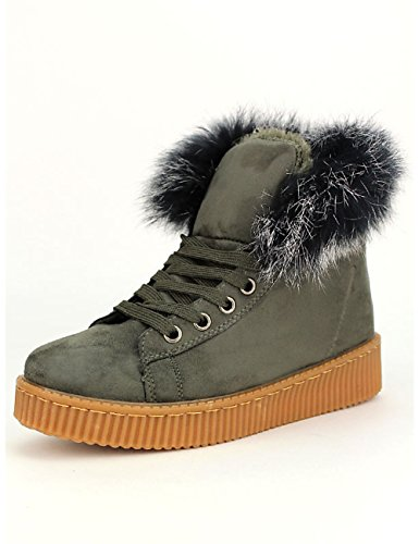 Cendriyon, Basket Boots Fourrée TAND'S Chaussures Femme