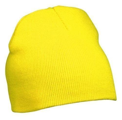 Myrtle Beach Strick Beanie Nr.1 MB7580, Farbe: gelb Wintermütze (Stuart Kostüm Kind)