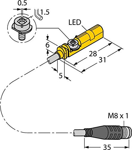 Turck Magnetfeldsensor BIM-UNT-AP7X0,3PSG3S Magnetischer Näherungsschalter 4047101160055