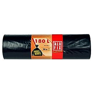 50 Stk. ALUFIX Profi Bags Müllsäcke Müllbeutel LDPE 180 L, 80x120cm, schwarz