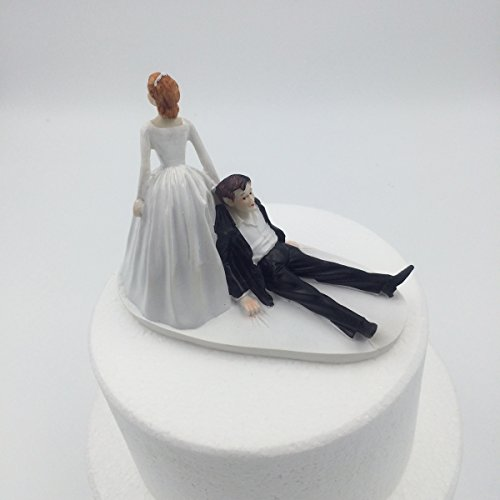 E-muse Vente Conmigo Couple Wedding Couple Figure, Topper Wedding Cake, Height 5.9 Inches