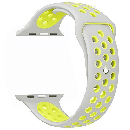 Memore Nike Sport replacement Loop Band for Apple Watch all Models (38mm, L Grey-Volt)  available at amazon for Rs.999