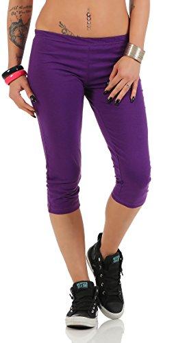 Gennadi Hoppe Damen Capri Leggings,lila,Medium (Capri Yoga Pants Medium)