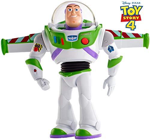Toy Story 4 - Walking Talking Buzz Lightyear, figura con frases y sonidos - Idioma inglés (Mattel GDB92)