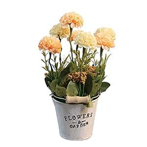 Flikool Hortensia Flores Artificial con Cubo de Hierro Faux Hydrangea Bonsai en Maceta Plantas Artificiales para Hogar Ventana Balcon Oficina Escritorio Dormitorio Sala Decoracion – 1