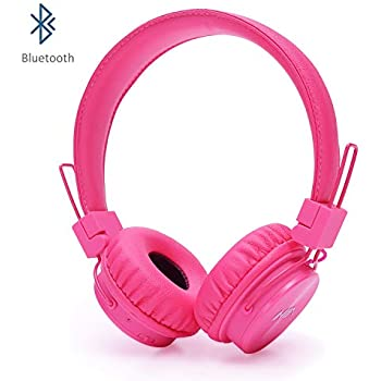 3bc60d7af1c Invech Bluetooth Kids Headphones with shareport, Wireless / Wired Noise  Cancelling over-ear Headphones, Foldable Children Headset with Built-in  Microphone ...