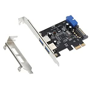 2 Port USB 3.0 PCI-E PCI Express 19-pin 15-pin SATA Connector Low Profile UK NEW