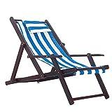 HUIFANG Strandkorb Massivholz Liege Falten Leinwand Stuhl Mittagspause Stuhl Stuhl Im Freien Tragbaren Stuhl Begleitet Holzstuhl Faul Stuhl (Farbe : B3)