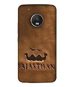 PrintVisa Symbol Of Rajasthan 3D Hard Polycarbonate Designer Back Case Cover for Motorola Moto G5