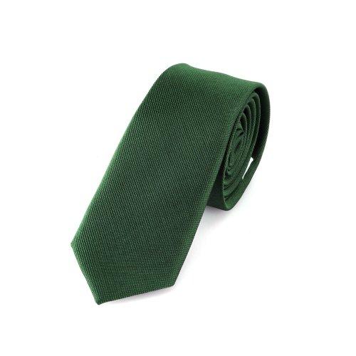 Corbata 5 cm fina de color verde agua oscura