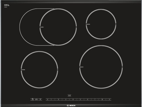 Bosch pib775 N17e Plaque Électrique/71 cm/4 zones de cuisson à induction avec détection Pot/Interrupteur principal/Noir