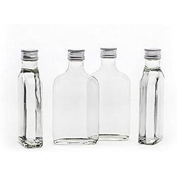 20 leere glasflaschen 200ml tasche mit schraubverschluss zum selbst abf llen 0 2 liter l. Black Bedroom Furniture Sets. Home Design Ideas