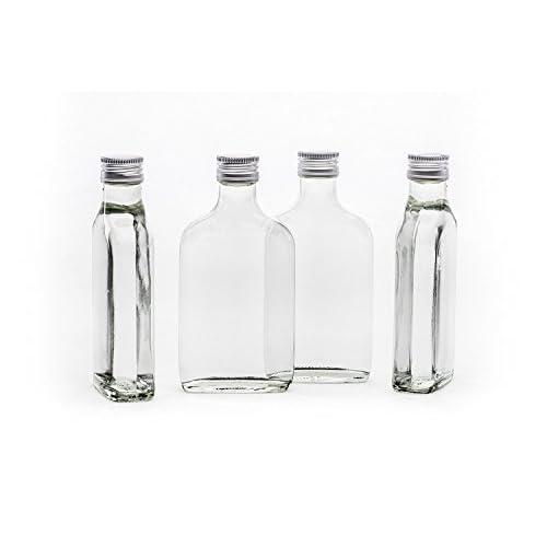 12 Leere Glasflaschen 200 Ml Mit Schraubverschluss Tasc 02 Liter L Likrflaschen Schnapsflaschen Essigflaschen Lflaschen Von Slkfactory