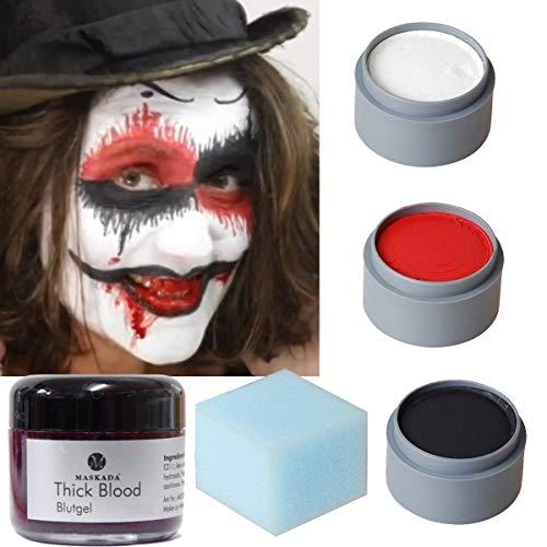 Horror Terror Killer Grusel Clown Set Schminkset schminken Theaterschminke Halloween Schminke