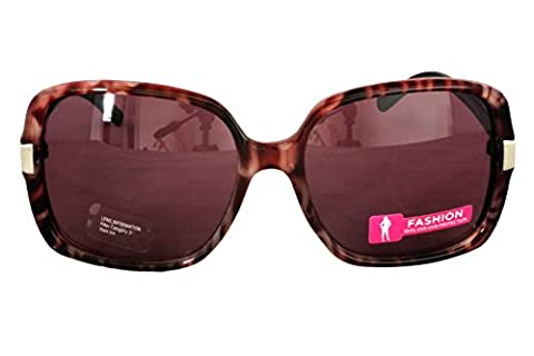 Foster Grant INDEED PINK FG62 Women's Square Style Sunglasses Plum