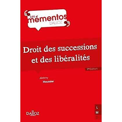 Droit des successions et des libéralités - Nouveauté