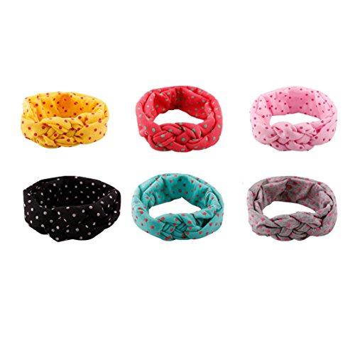6 PC nettes Baby-elastisches Knoten-Stirnband-Kaninchen-Ohr-Haar-Zusätze Band (Muster 1) Band, 2.6