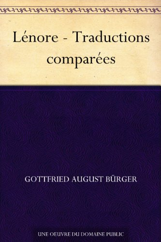 Couverture du livre Lénore - Traductions comparées