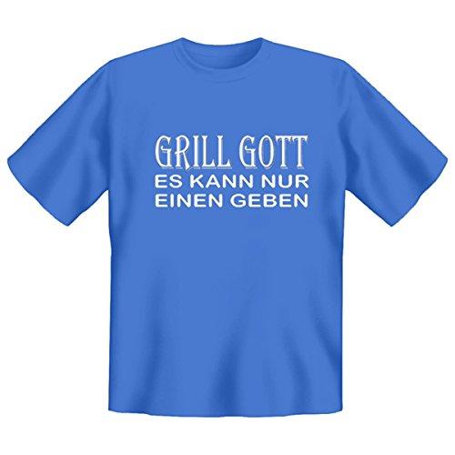 DAS Shirt für BBQ-Fans und Grillprofis: Grill Gott - es kann nur einen