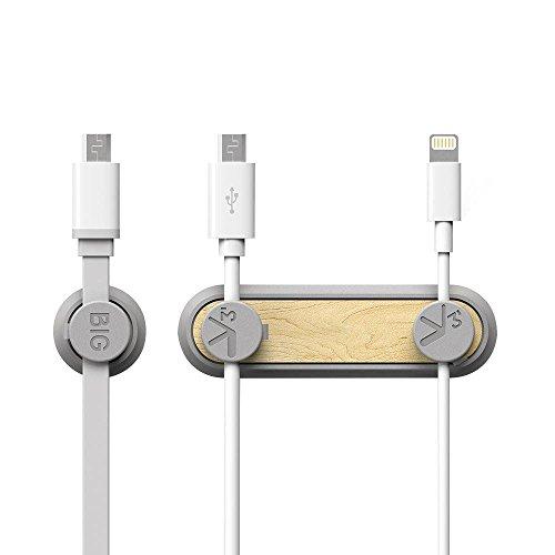 magnetische kabelclips, gosento Magneet houtmateriaal, Bureau kabelhouder kabelmanagement voor laadkabel, Netsnoer, USB-kabel, Audio kabel EINWEG