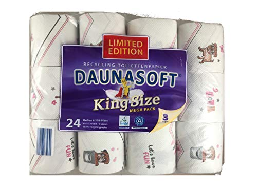 Mops LIMITED EDITION DAUNASOFT Toilettenpapier 24 Rollen a 150 Blatt MEGA PACK GESCHENKIDEE