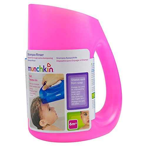 Munchkin Soft Rim Shampoo Rinser with Easy-Grip Handle (Colours May Vary)