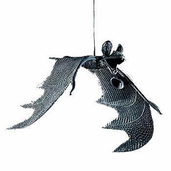 1 x Fledermaus mit Saugern und Aufhänger, Spannweite ca. 30 (Für Sachen Halloween)