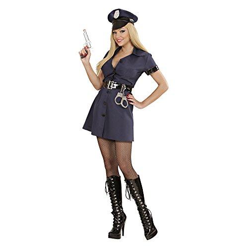 üm Polizistin, Kleid, Gürtel und Hut, Größe S ()