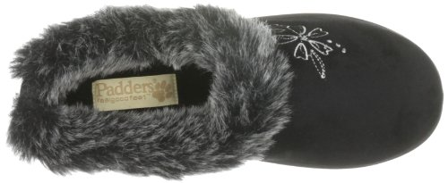 Padders Anika, Pantofole Donna Nero (Schwarz (Black))